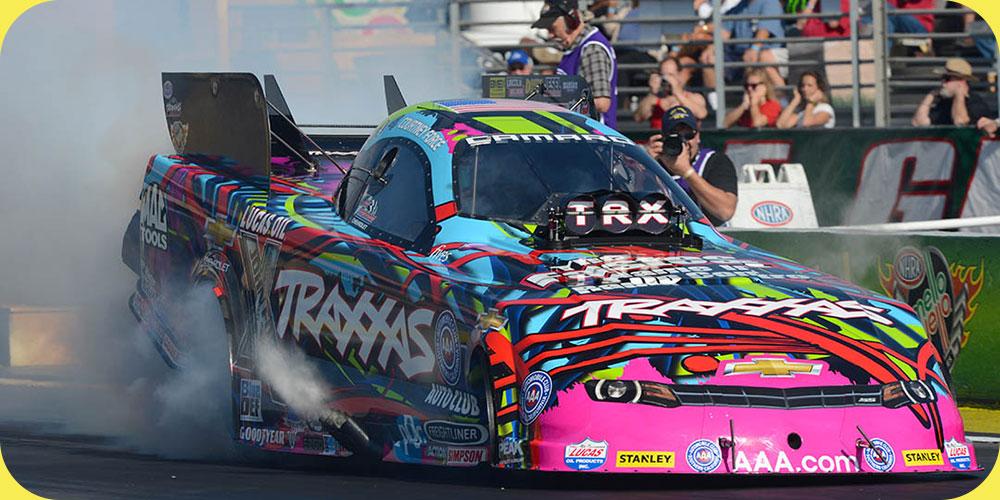 NHRA drag racing, funny car dragsters, burnout